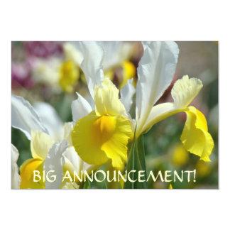 INVITATIONS Big Announcement! IRIS FLOWERS