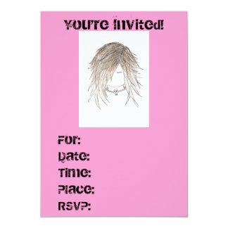 Invitations, Birthday or Any Occasion Pretty punk Card