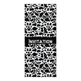 Invitations Black & White Style Animal Print