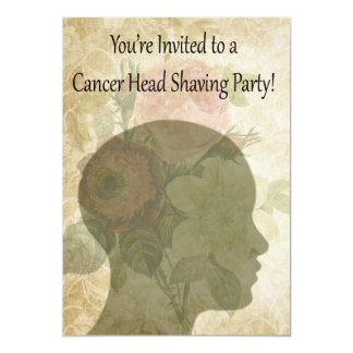 Invitations, Cancer Support Head Shaving Party Card
