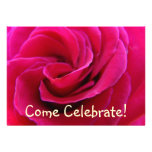 Invitations Cards Come Celebrate! Pink Rose Flower