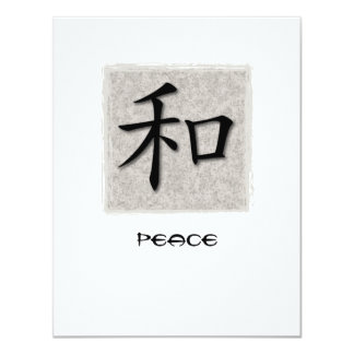 Invitations Chinese Symbol For Peace On Concrete