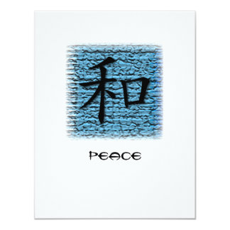 Invitations Chinese Symbol For Peace On Turquoise