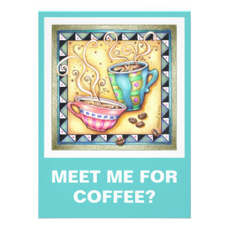 INVITATIONS - COOL BEANS COFFEE ART