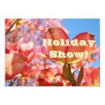 "Invitations Custom Holiday Show! Pink Dogwoods 5"" X 7"" Invitation Card"