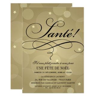 Invitations de Fête de Noël | Champagne Vive Thème