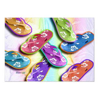 Invitations - Flip Flops Pop Art