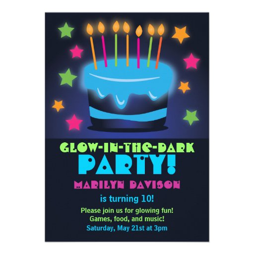 Glow In The Dark Party Invites is nice invitations ideas