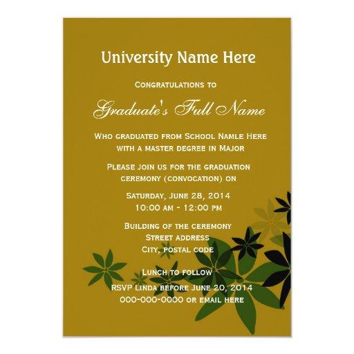 Invitation for graduation ceremony militaryalicious invitation for graduation ceremony stopboris Gallery