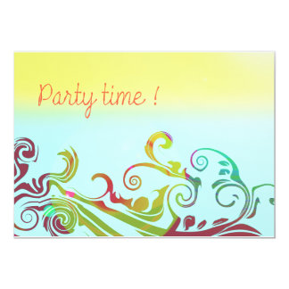 "Invitations for your PARTY ! 5"" X 7"" Invitation Card"
