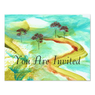 Invitations From Original Abstract Painting