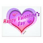 "INVITATIONS - Happy Valentine's Day 4.25"" X 5.5"" Invitation Card"