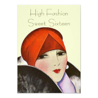 Invitations High Fashion Sweet Sixteen Party Theme