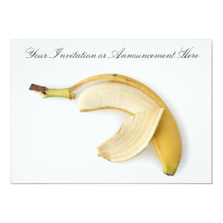 Invitations or Innouncements with Peeled Banana
