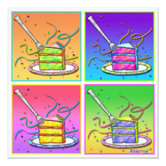 Invitations - Pop Art Cake