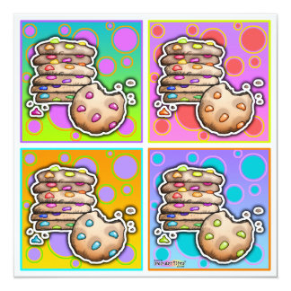 Invitations - Pop Art Cookies