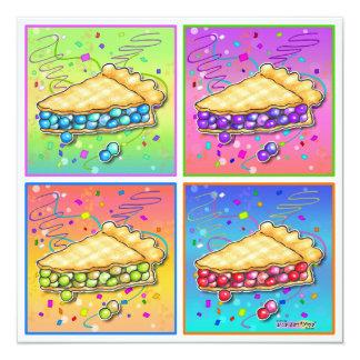 Invitations - Pop Art Piece of Pie