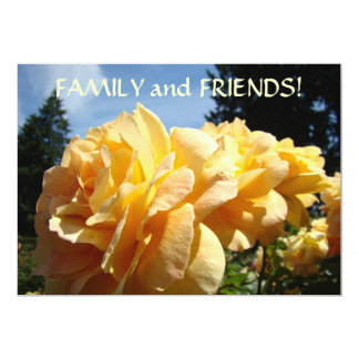 INVITATIONS Rose Flowers FAMILY FRIENDS Parties