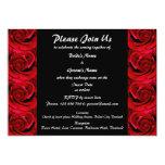 Invitations - special red black custom