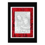 "Invitations template - red roses classic 5"" x 7"" invitation card"