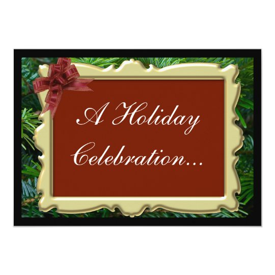Invitations to Christmas Party, Luxurious Pine