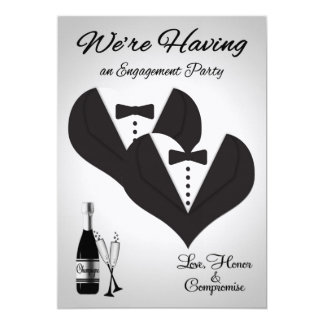 Invitations to Gay Engagement Party