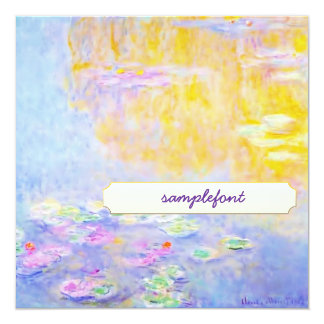 invitations to tea, monet water lily 7
