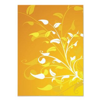 Invitations - Yellow Floral Vector Image Design