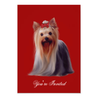 Invitations Yorkshire terrier Puppy Dogs