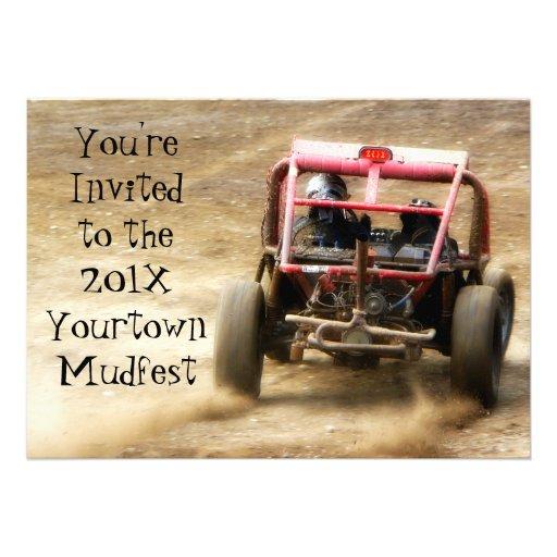Invite a competir con sucio de Mudfest Dunebuggy 4 Comunicado
