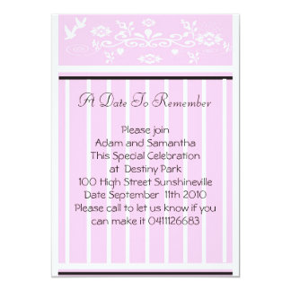 """Invite A Date to Remember 5"""" X 7"""" Invitation Card"""