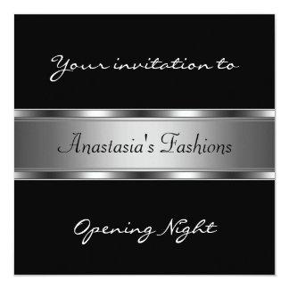 Invite a la plata negra de la noche de la anuncios personalizados