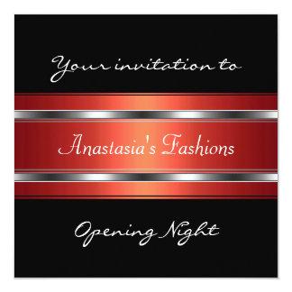 Invite a la plata roja negra de la noche de la invitacion personalizada