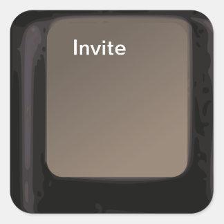 Invite a los pegatinas de la invitación de la pegatina cuadradas personalizada