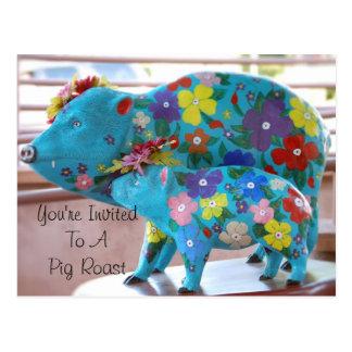 Invite a una postal de la carne asada del cerdo