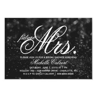 Invite - Black Glit Fab future Mrs. Bridal Shower