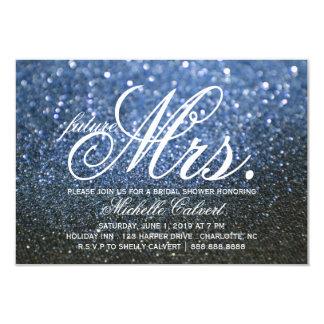 Invite - Blue Lit Nite Bridal Shower future Mrs.