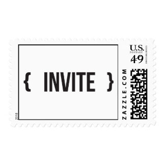 Invite - Bracketed - Black and White Stamp