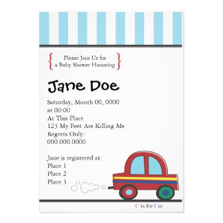 Invite Car ai Please Join Us for a Baby Shower