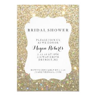 """Invite - día nupcial de la ducha fabuloso - al oro invitación 5"""" x 7"""""""