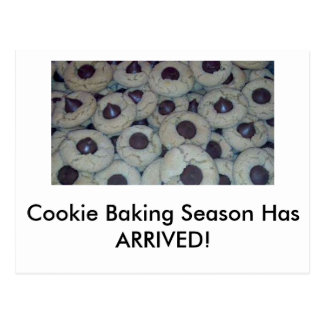 Invite friends in a new new to cookie baking day postcard