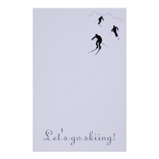 Invite friends to go skiing... customised stationery