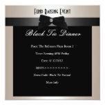 Invite Fundraiser Formal Black Tie Champagne Custom Announcement