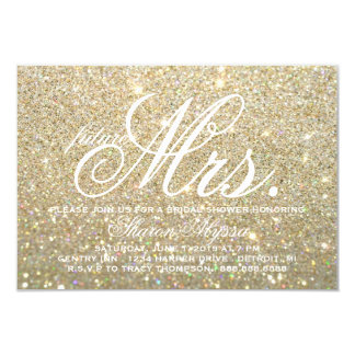 Invite - Gold Bridal Shower future Mrs. W
