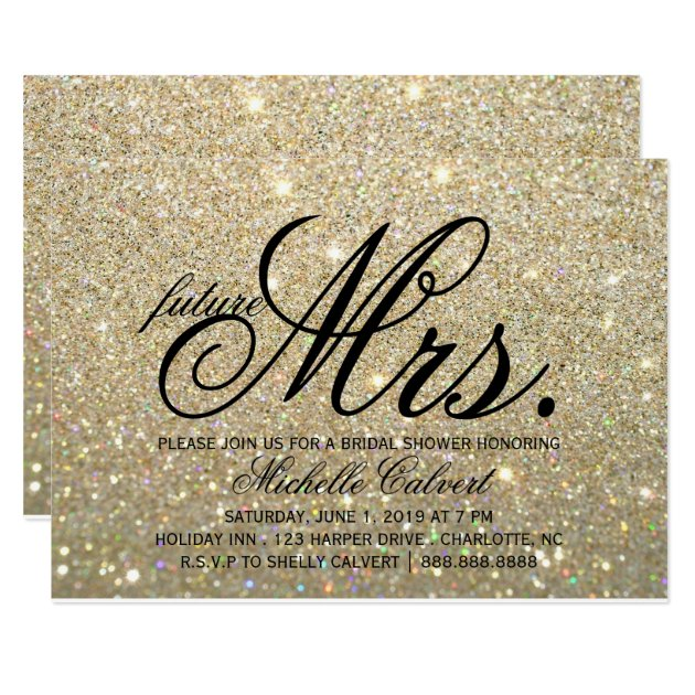 glitter wedding invitations & announcements | zazzle,