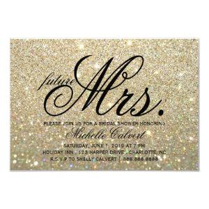 Invite - Gold Glit Fab future Mrs. Bridal Shower