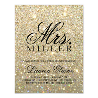Invite - Gold Glit Fab Mrs. Bridal Shower 3