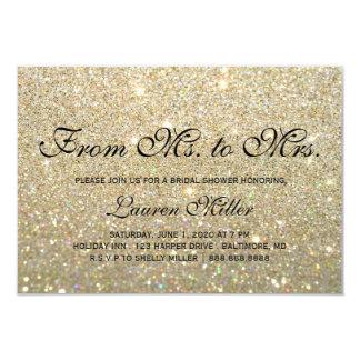 Invite - Gold Glit Fab Ms.Mrs. Bridal Shower