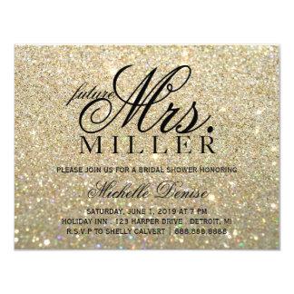 Invite - Gold Glitter future Mrs Bridal Shower2