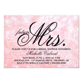 Invite - Lit Pink Glit Bridal Shower future Mrs.